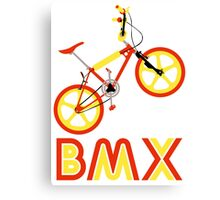 BMX (Red & Yellow) Canvas Print