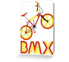 BMX (Red & Yellow) Greeting Card