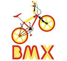 BMX (Red & Yellow) Photographic Print