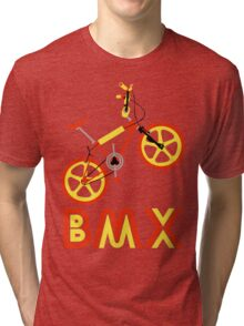 BMX (Red & Yellow) Tri-blend T-Shirt