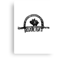 The Boarhat Bar logo Canvas Print