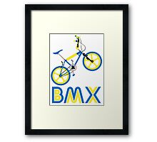 BMX (Blue & Yellow) Framed Print