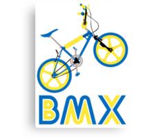 BMX (Blue & Yellow) Canvas Print