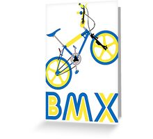 BMX (Blue & Yellow) Greeting Card