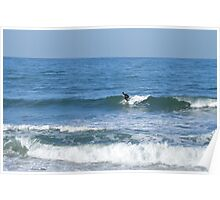 Surfing in The Pacific Ocean Poster