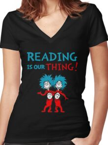 Dr. Seuss Day Women's Fitted V-Neck T-Shirt