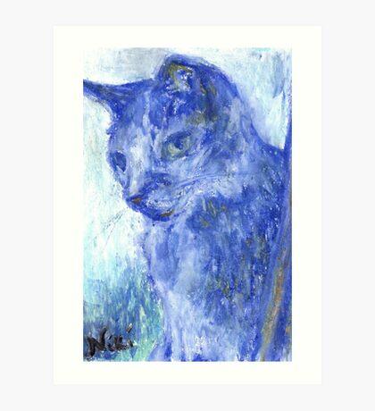 Side Glance (pastel) Art Print