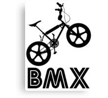 BMX Silhouette (Black) Canvas Print