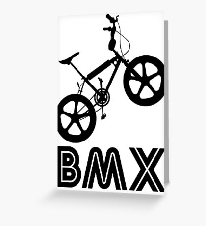 BMX Silhouette (Black) Greeting Card