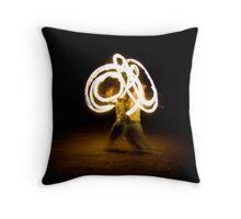 Fire Twirler Throw Pillow