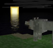 A Wolf Who Looks The Night - Minecraft by creeper128