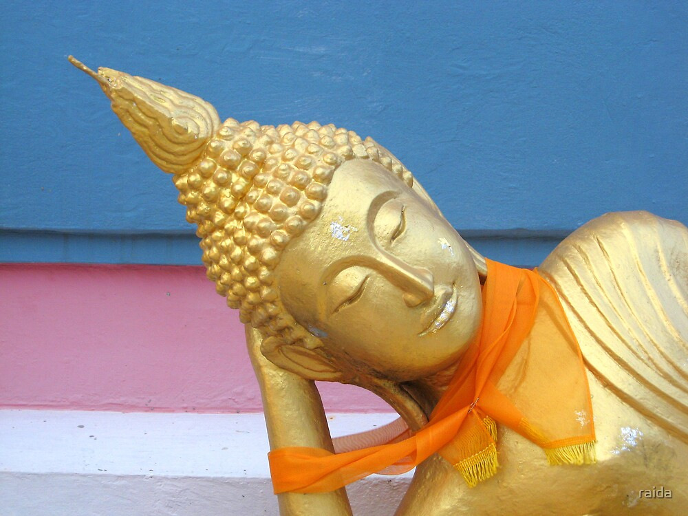 reclining buddha by raida