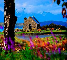 the church of the good shepard after the rain by Gus Buckner