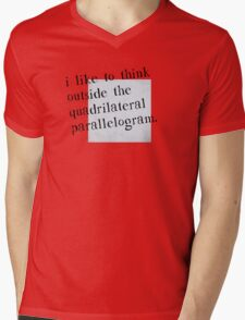 I Like To Think Outside The Box Mens V-Neck T-Shirt