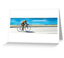 Head down 110km to go Greeting Card