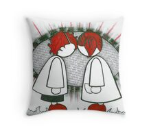 Jett and Melody were glad to have met. Throw Pillow