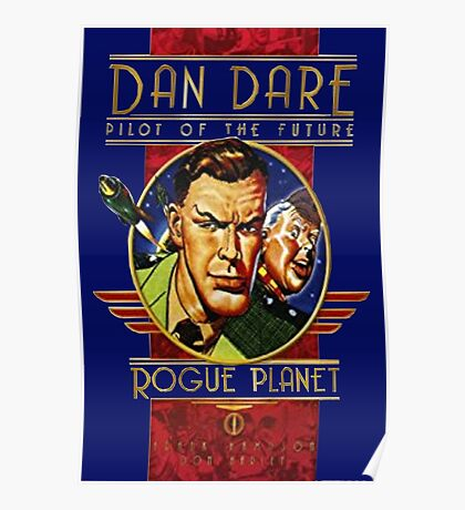 Dan dare retro comic book hero Poster