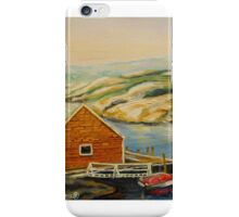 BEST CANADIAN PAINTINGS OF PEGGY'S COVE BY CANADIAN ARTIST CAROLE SPANDAU iPhone Case/Skin