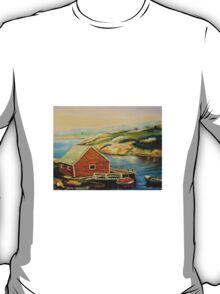 BEST CANADIAN PAINTINGS OF PEGGY'S COVE BY CANADIAN ARTIST CAROLE SPANDAU T-Shirt