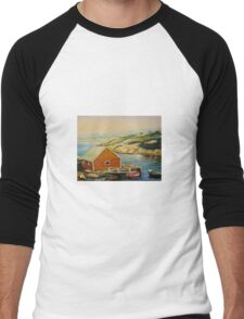BEST CANADIAN PAINTINGS OF PEGGY'S COVE BY CANADIAN ARTIST CAROLE SPANDAU Men's Baseball ¾ T-Shirt