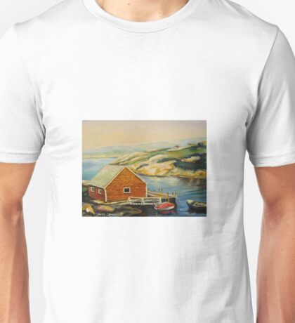 BEST CANADIAN PAINTINGS OF PEGGY'S COVE BY CANADIAN ARTIST CAROLE SPANDAU Unisex T-Shirt