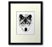Wolf Face. Digital Wildlife Image. Framed Print