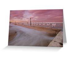 Merewether Baths at Dusk 5 Greeting Card
