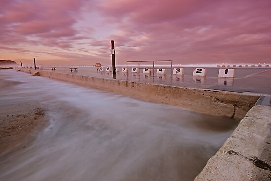 Merewether Baths at Dusk 5 by Mark Snelson