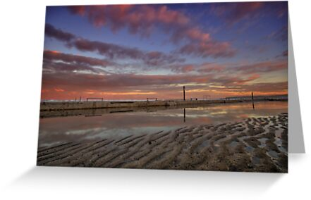 Merewether Baths at Dusk 6 by Mark Snelson