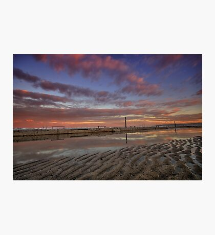 Merewether Baths at Dusk 6 Photographic Print