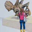 Museum X (Triceratops), Pencil on paper, 57x39cm, 2013. by Jason Moad
