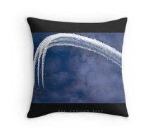 Red Arrows Air Display Throw Pillow