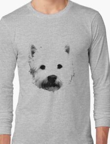 West Highland White Terrier Westie Digital Engraving Long Sleeve T-Shirt