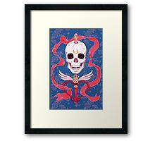 Moon Skull Framed Print