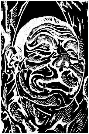 The dog man by Pedra