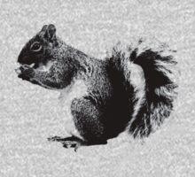 Squirrel Eating Acorns. Wildlife Digital Engraving Image Kids Clothes