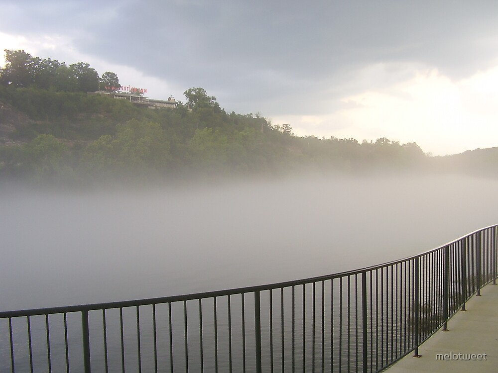 mist on the river by melotweet