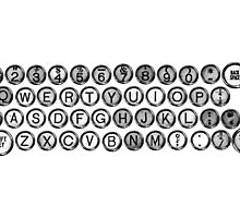 Vintage and Antique Typewriter Keys by digitaleclectic