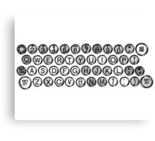 Vintage and Antique Typewriter Keys Canvas Print