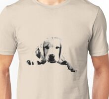 Golden Retriever Puppy Dog Engraving Unisex T-Shirt