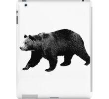 Bear Walking in the Woods. Digital Engraving iPad Case/Skin