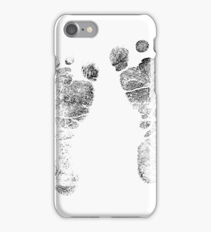 Baby Footprints. Adorable Baby Feet Perfect For New Baby Boy or Baby Girl iPhone Case/Skin