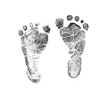 Baby Footprints. Adorable Baby Feet Perfect For New Baby Boy or Baby Girl Photographic Print
