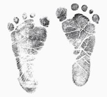 Baby Footprints. Adorable Baby Feet Perfect For New Baby Boy or Baby Girl Kids Clothes