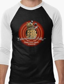 Exterminate All Folks! Men's Baseball ¾ T-Shirt