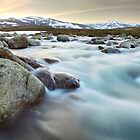 Snowy River Sunset, Mt Kosciuszko, New South Wales, Australia by Michael Boniwell