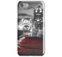 Tower Bridge and the Ceramic Poppies BW iPhone Case/Skin