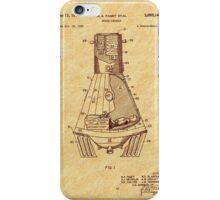 1963 Space Capsule Patent iPhone Case/Skin