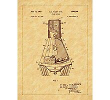1963 Space Capsule Patent Photographic Print