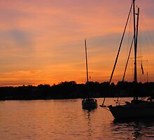 Sunset on Oyster Bay, NY by Peter Fenna